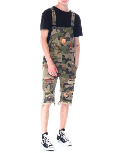 SMOKE RISE - Distressed short Overall