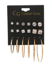 Jewelry & Watches - 9 Pair Earrings Set-2517736
