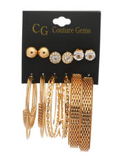 Jewelry & Watches - 6 Pair Earrings Set-2517794