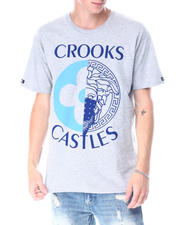 Crooks & Castles - Medusa Monogram Split Tee-2518052
