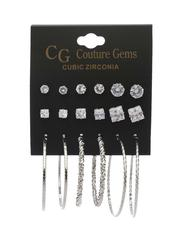 Fashion Lab - 9 Pair Earrings Set -2517753