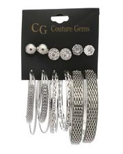 Jewelry & Watches - 6 Pair Earrings Set-2517800