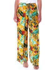 Bottoms - Tie front wide leg pant-2517245