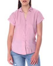 Fashion Lab - S/S Button Front Shirt-2517250