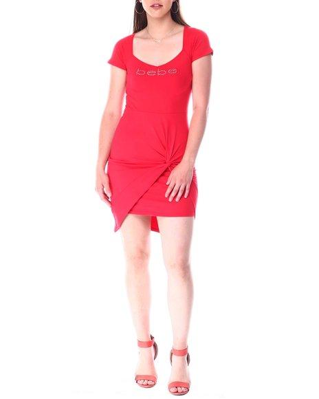 Bebe - Cap Sleeve Hi Lo Slit Front Dress