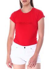 Women - Bebe Rhinestone Logo S/S Tee-2511133