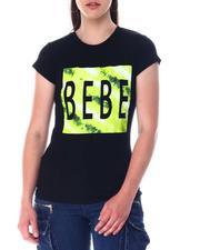 Women - Bebe Tie Dye Logo S/S Tee-2517305