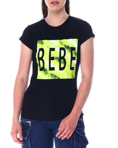 Bebe - Bebe Tie Dye Logo S/S Tee