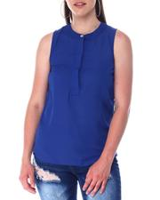 Fashion Tops - S/L Button Front Top-2517457