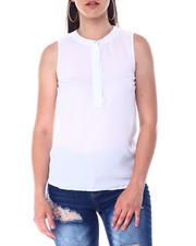 Fashion Tops - S/L Button Front Top-2517200