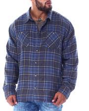 Men - Plaid Long Sleeve Flannel Top (B&T)-2519756