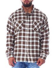 Men - Plaid Long Sleeve Flannel Top (B&T)-2519786