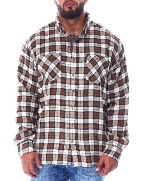 Buyers Picks - Plaid Long Sleeve Flannel Top (B&T)