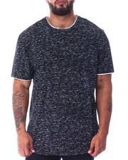 Men - Dip Hem Layer Crew Scoop T-Shirt (B&T)-2516996