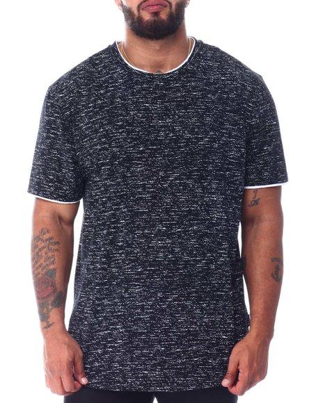 Brooklyn Cloth - Dip Hem Layer Crew Scoop T-Shirt (B&T)
