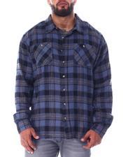 Big & Tall - Plaid Long Sleeve Flannel Top (B&T)-2519761