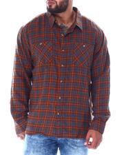 Big & Tall Faves - Plaid Long Sleeve Flannel Top (B&T)-2519751