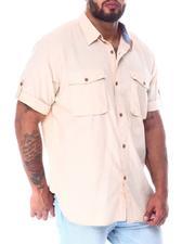 Big & Tall - Chambray Short Sleeve Woven Shirt (B&T)-2519828