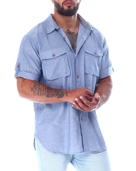 Buyers Picks - Chambray Short Sleeve Woven Shirt (B&T)