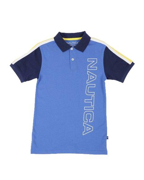 Nautica - Vertical Logo Polo Shirt (8-20)