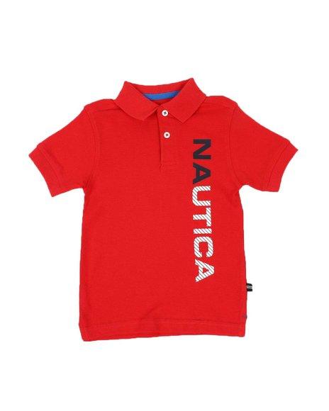 Nautica - Vertical Logo Polo Shirt (2T-4T)