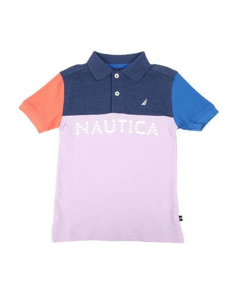 Nautica - Color Block Polo Shirt (4-7)
