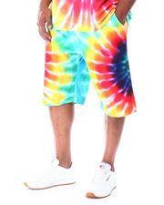 Big & Tall - Tie Dye Printed Shorts (B&T)-2519809