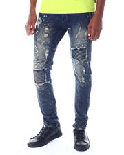 Jeans & Pants - Rippled Detail Moto Jean-2520076
