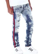 Jeans & Pants - Shredded Moto Jeans w Side Tape-2520238