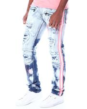 Jeans & Pants - Shredded Moto Jeans w Side Tape-2520248
