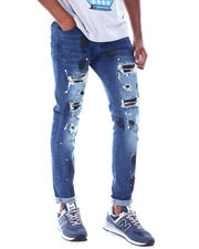 Jeans & Pants - Rip and Repair Indigo Jean W SPLATTER-2520098