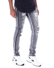Jeans & Pants - Distressed Vintage bleach Ripped Jean W Splatter-2520201