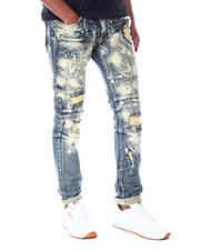 Jeans & Pants - Shredded Jeans w Color Underlay-2520309