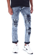 Jeans & Pants - Acid Wash Distressed Moto Jean-2519232