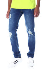 Jeans & Pants - DARK BLUE RIPPED JEAN-2519449
