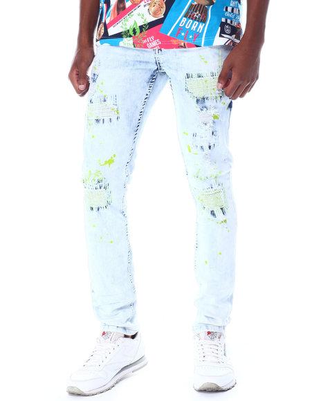 Create 2MRW - Ripped color stitch Jean