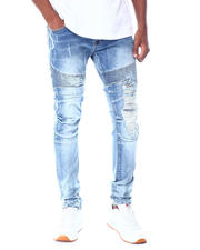 Jeans & Pants - Biker Damaged effect Jean-2520624