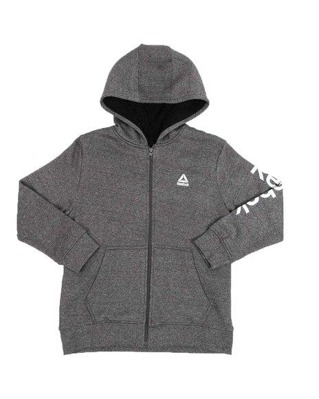 Reebok - Fleece Sherpa Lined Front Zip Hoodie (8-20)