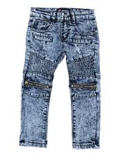 Sizes 2T-4T - Toddler - Fashion Cut & Sew Moto  Denim Jeans (2T-4T)-2521599