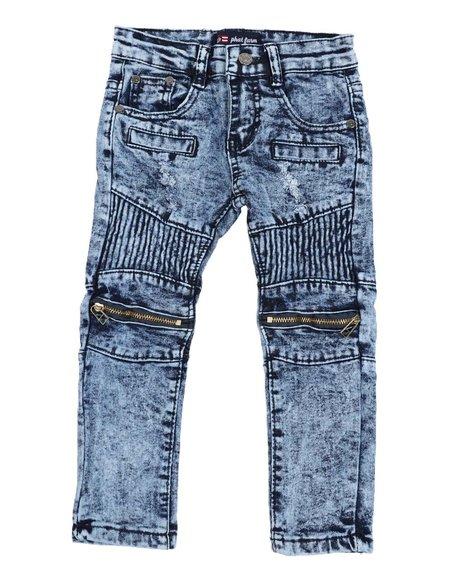 Phat Farm - Fashion Cut & Sew Moto  Denim Jeans (2T-4T)