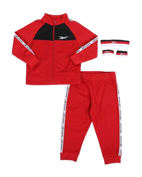 Reebok - 2 Pc Track Jacket & Track Pants Set (2T-4T)