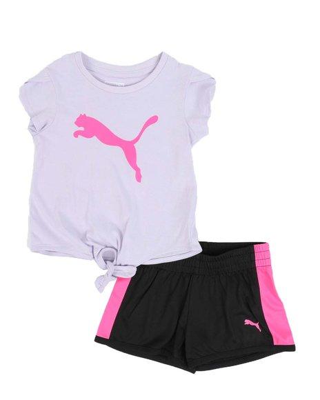 Puma - 2 Pc Logo Tee & Tricot Shorts Set (2T-4T)