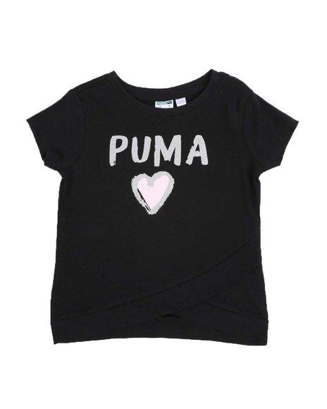 Puma - Alpha Pack Cross Front Fashion Tee (4-6X)