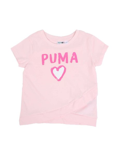 Puma - Alpha Pack Cross Front Fashion Tee (4-6X)