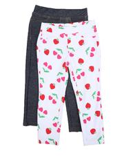 Girls - Leggings Twin Pack (7-16)-2520235