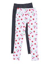Girls - Leggings Twin Pack (7-16)-2520350