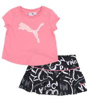 Girls - 2 Pc Logo Tee & Mesh Skort Set (2T-4T)-2521610