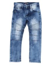 Sizes 2T-4T - Toddler - Acid Washed Moto Skinny Jeans (2T-4T)-2521956