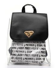 Backpacks - Baby Phat Printed Clear Backpack W/ Inner Bag-2518545