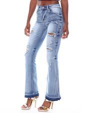 Jeans - Destructed Wide Leg Jeans-2523195
